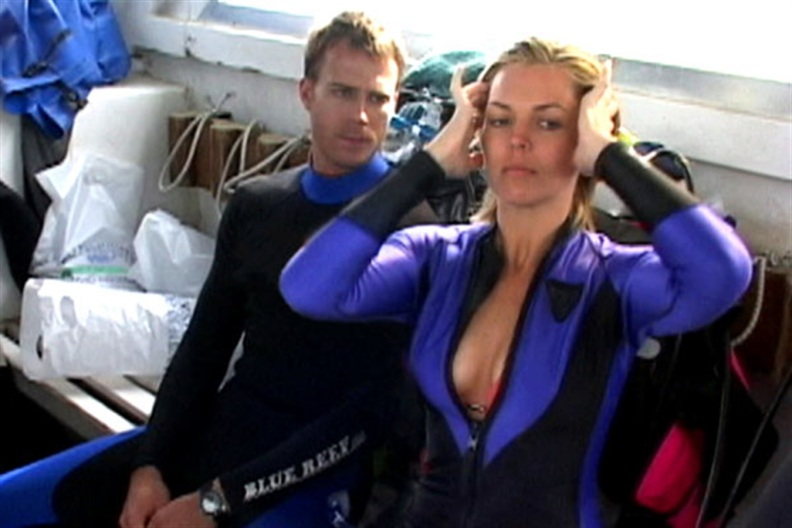 ..except for the part where she couldn't figure out how to zip up her wetsuit...